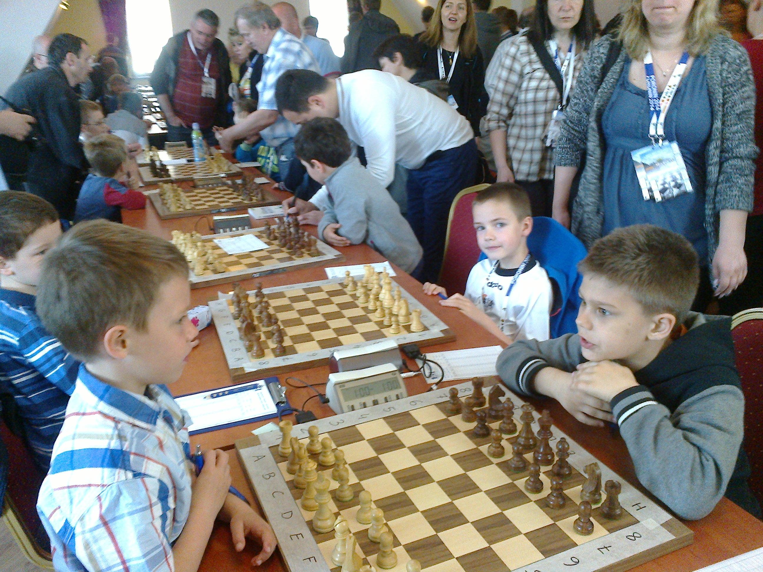 Dobry start Antoniego Pieszczocha w Pucharze Polski do 8 lat w Szachach, Poronin, 01-04.05.2014